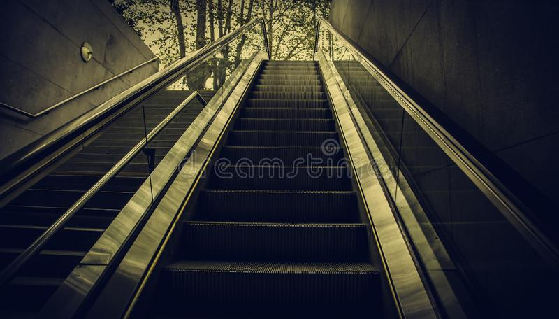 Escalator for people royalty free stock image