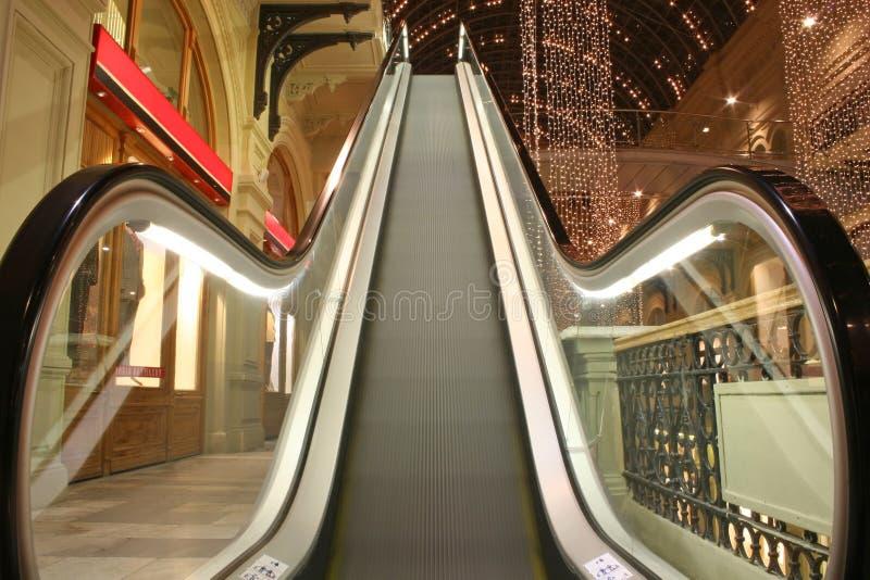 Escalator in shop royalty free stock photo