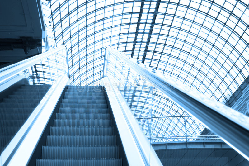Download Escalator In Shopping Center, Moscow Stock Image - Image: 4805483