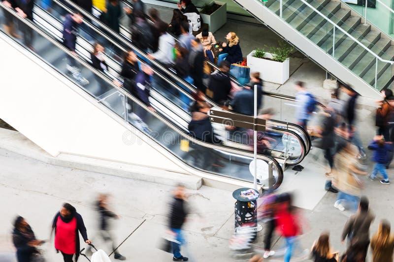 Escalator at a shopping mall stock image