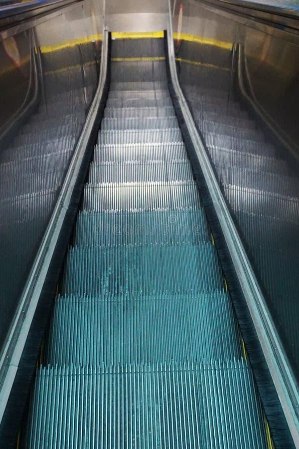 Escalator in the subway stock photo