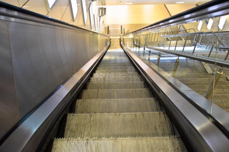 Escalator in a subway station in Istanbul stock photography