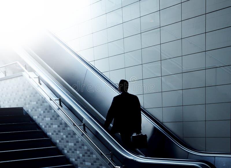 Escalator to heaven stock photo