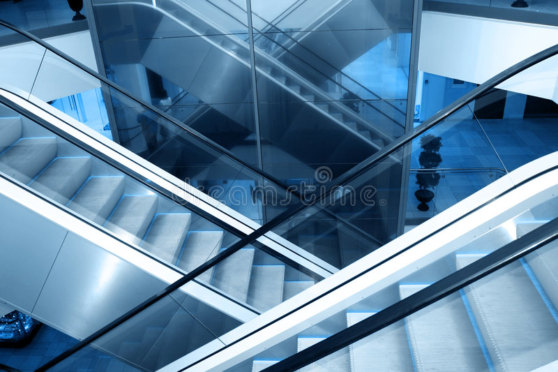 Download Escalators stock photo. Image of business, easy, blue - 3993488