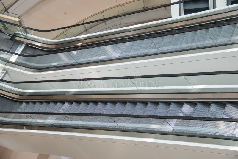 escalators fotografia stock