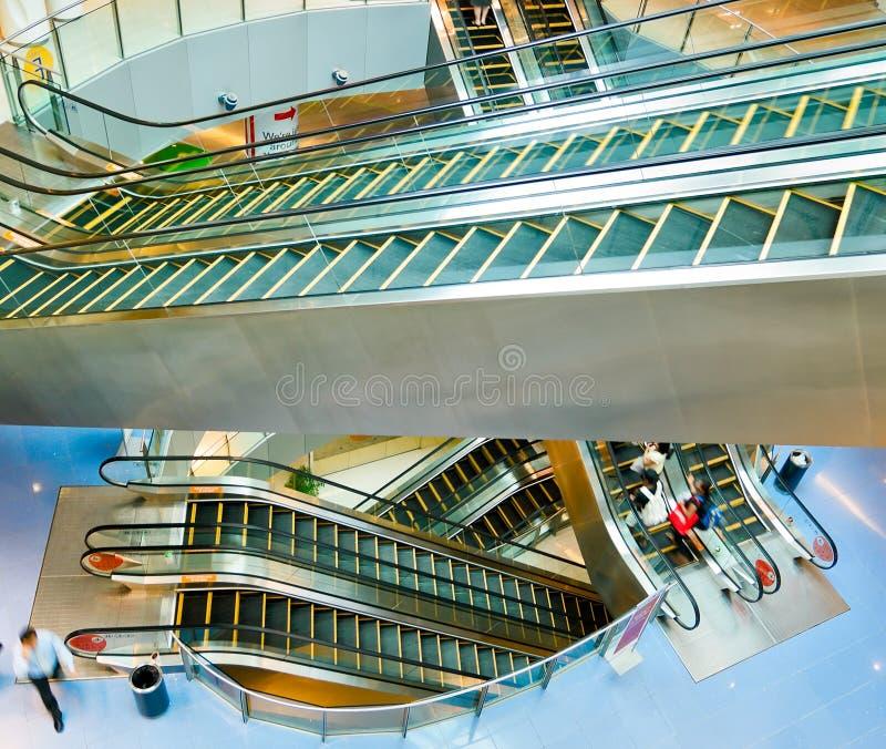Download Escalators stock photo. Image of high, mall, blur, cross - 4361408