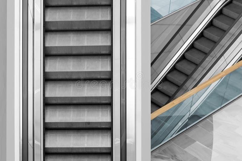 escalators fotografie stock