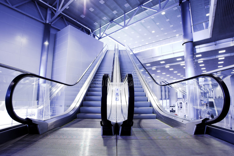 Download Escalators in exhibition stock photo. Image of escalator - 5736314