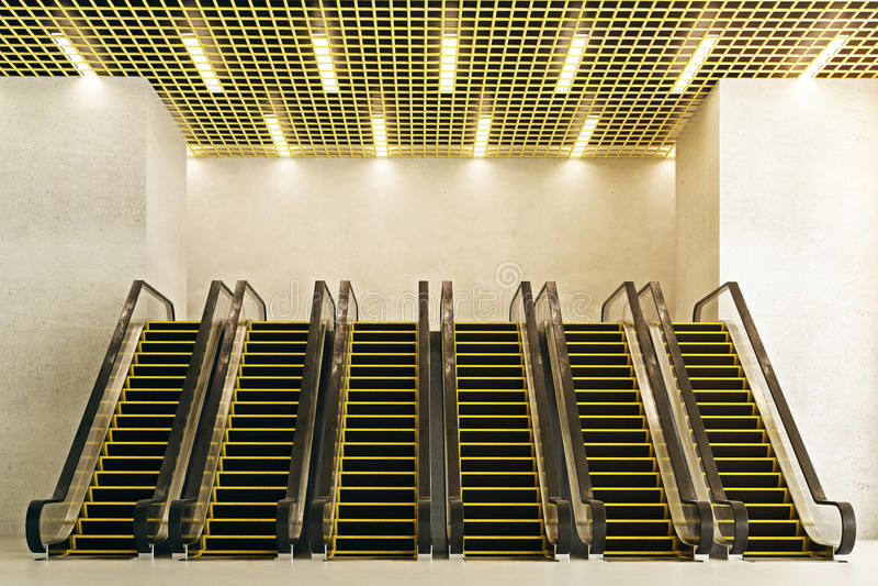 Escalators front stock illustration