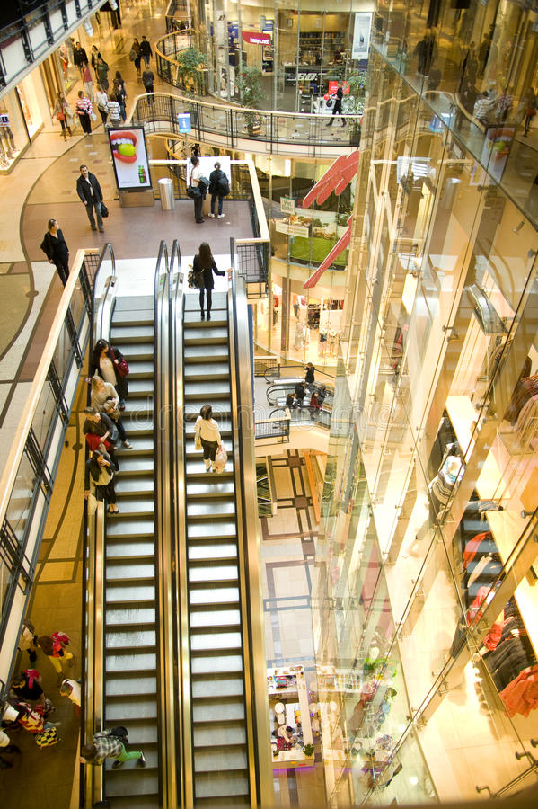 Download Escalators In The Mall. Editorial Image - Image: 24247810