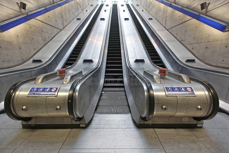 escalators immagine stock
