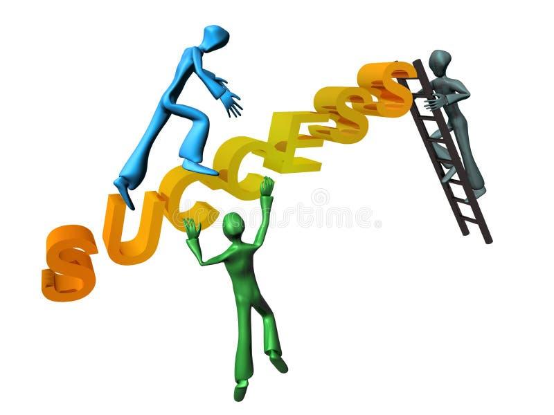 Escale ao sucesso ilustração stock