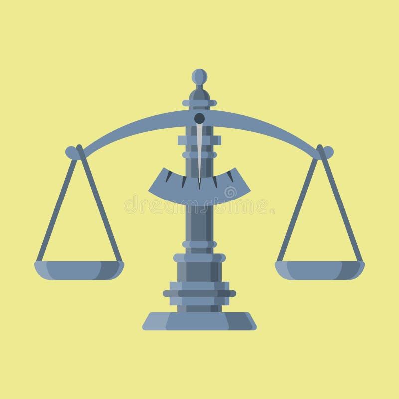 Escale el ejemplo del vector del equipo de la herramienta de la balanza de la instrumentación de la medida del peso stock de ilustración