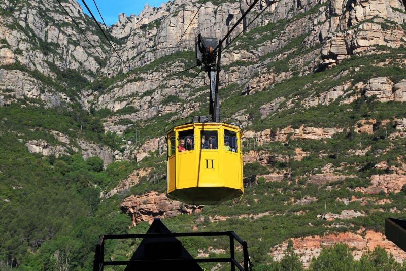 Escale o teleférico a Monserrate, Espanha foto de stock royalty free