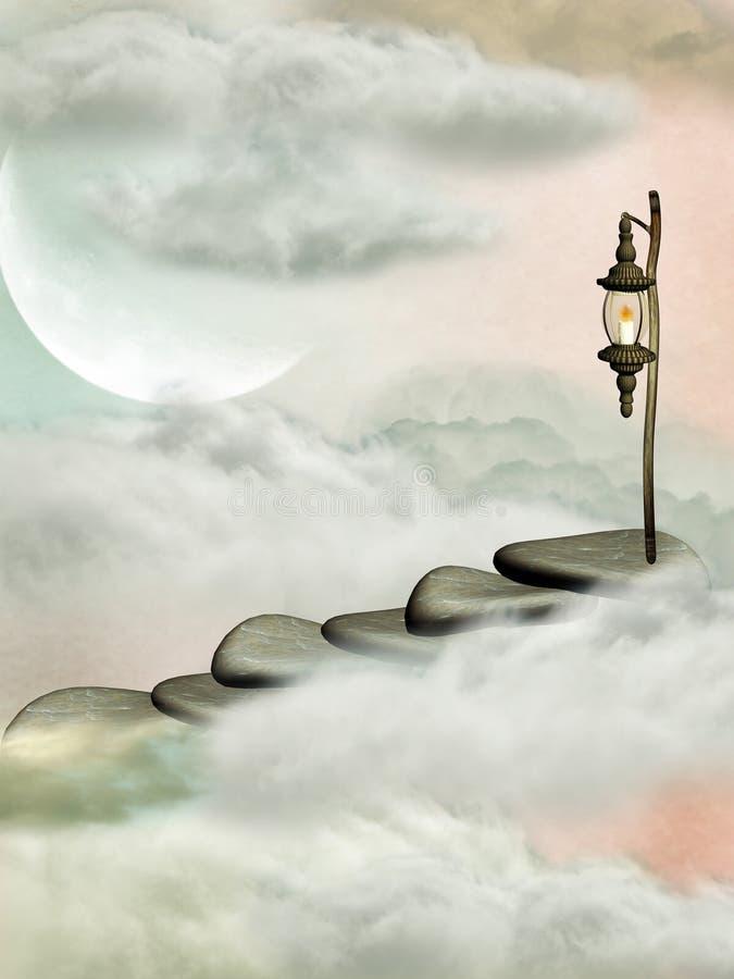 Escalera stock de ilustración