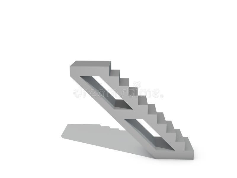 escalera Aislado en el fondo blanco illustratio de la representación 3D libre illustration