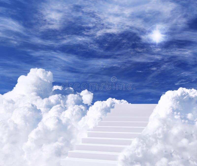 Escalera al cielo stock de ilustración