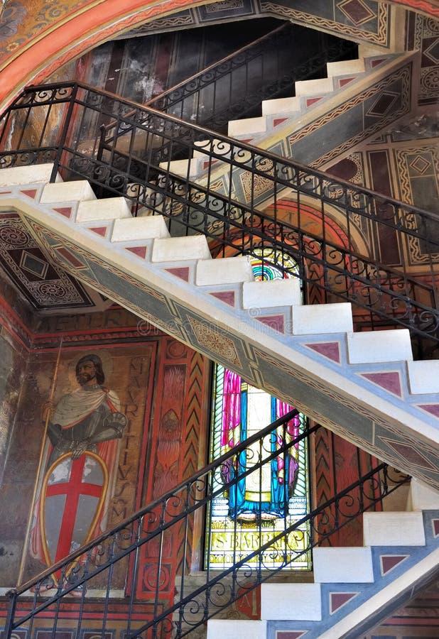 Escalera barroca foto de archivo libre de regalías