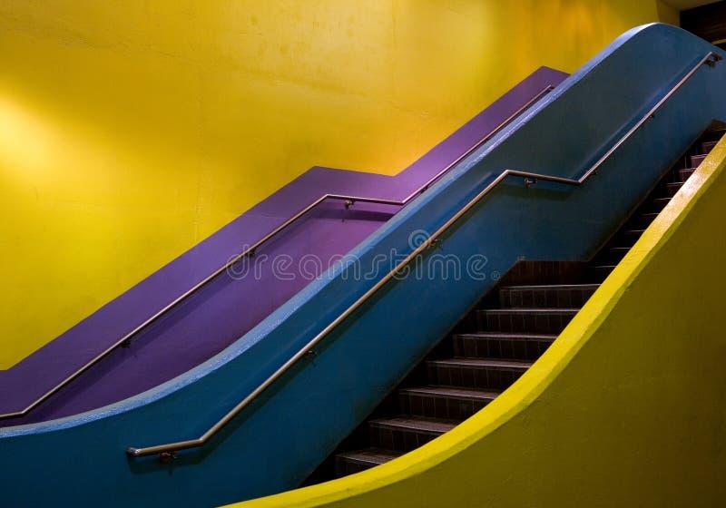 Escalera colorida fotografía de archivo