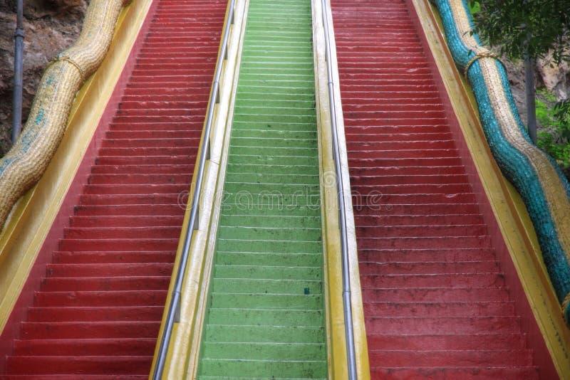 Escalera colorida fotos de archivo libres de regalías
