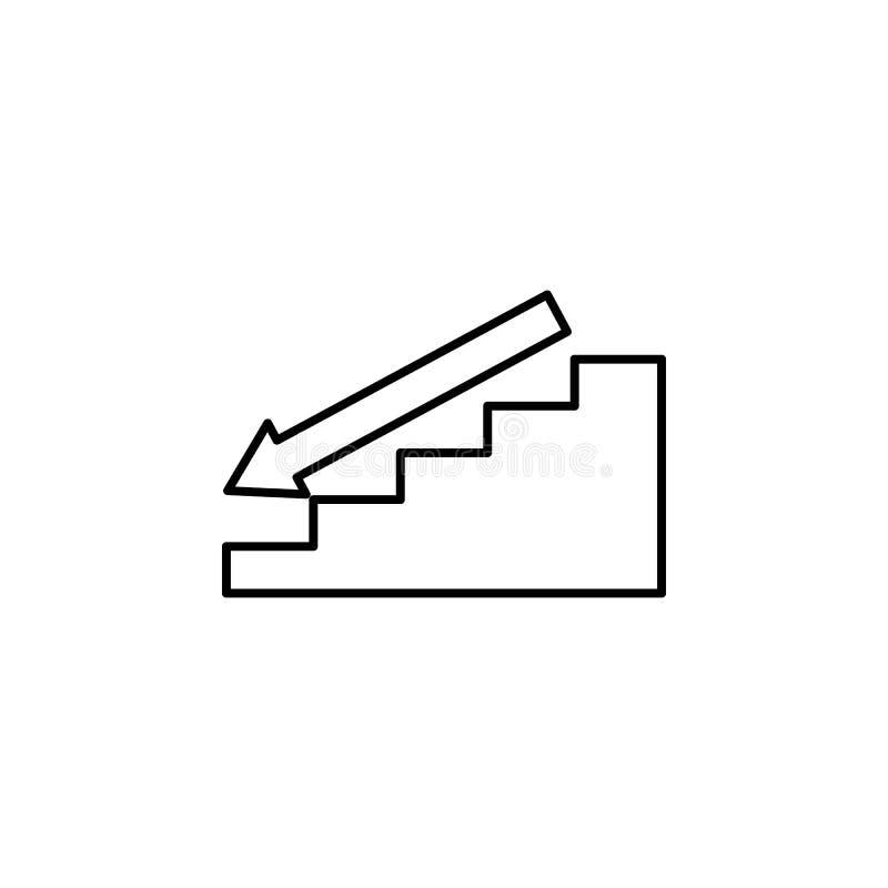Escalera con el icono hacia abajo de la flecha Escaleras en nuestro icono de la vida Diseño gráfico de la calidad superior Muestr libre illustration
