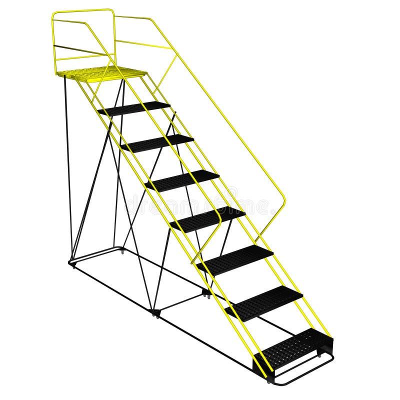 Escalera con la plataforma - 3D rinden ilustración del vector