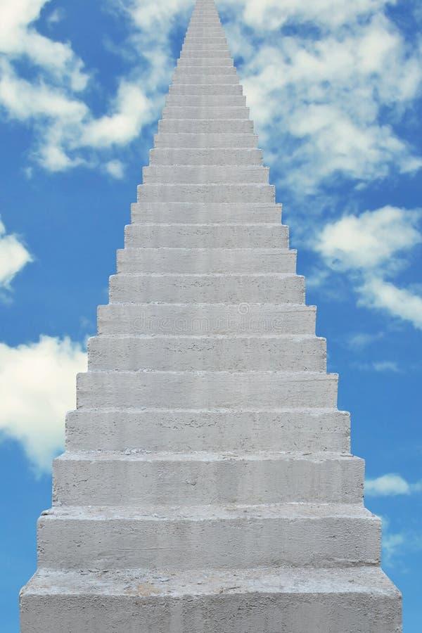 Escalera concreta ilustración del vector