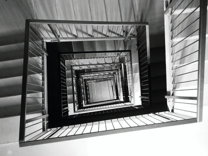 Escalera cuadrada fotos de archivo