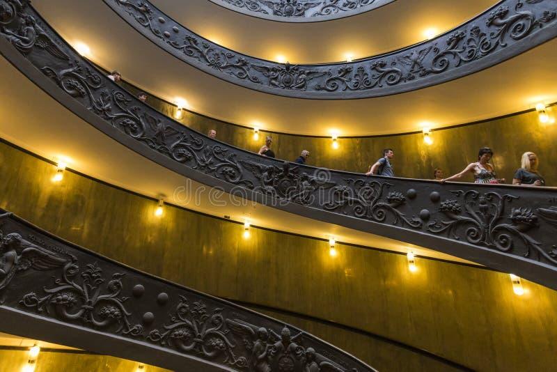 Escalera de Bramante foto de archivo