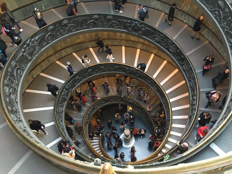 Escalera de Bramante fotos de archivo