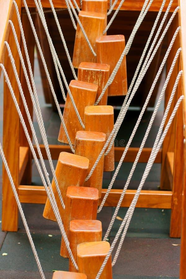Escalera de cuerda imagen de archivo libre de regalías