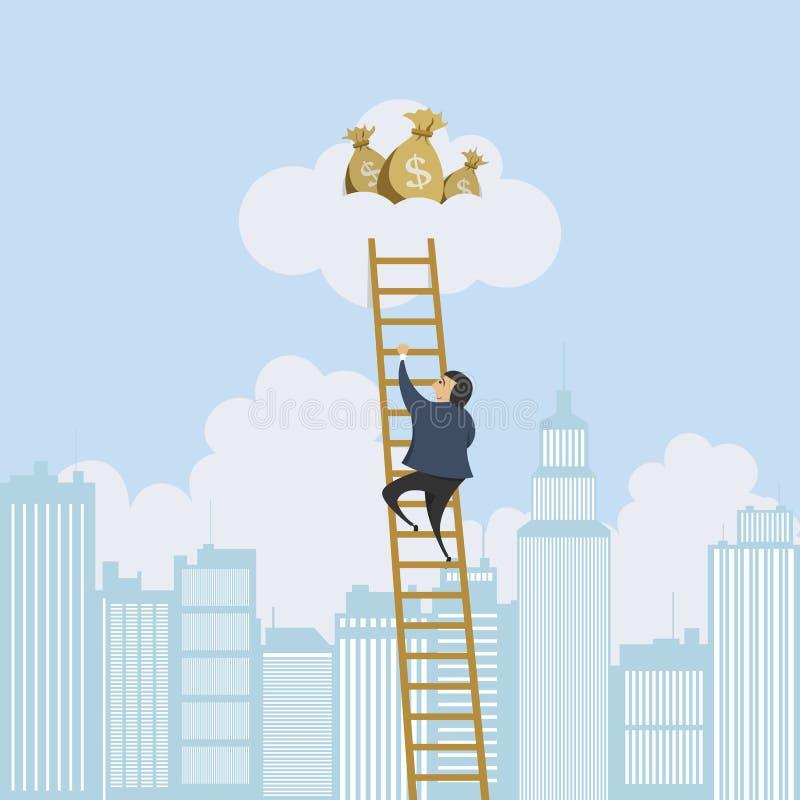 Escalera de escalamiento al dinero libre illustration
