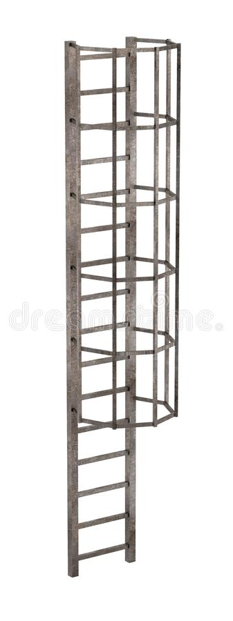 Escalera de la chimenea stock de ilustración