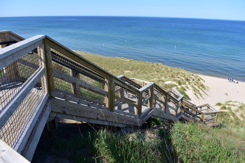 Escalera de la duna en el parque del túnel fotos de archivo