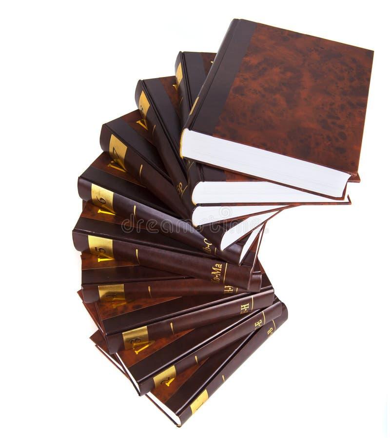 Escalera de la enciclopedia imagen de archivo libre de regalías