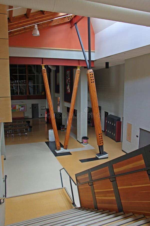 Escalera de la escuela foto de archivo libre de regalías