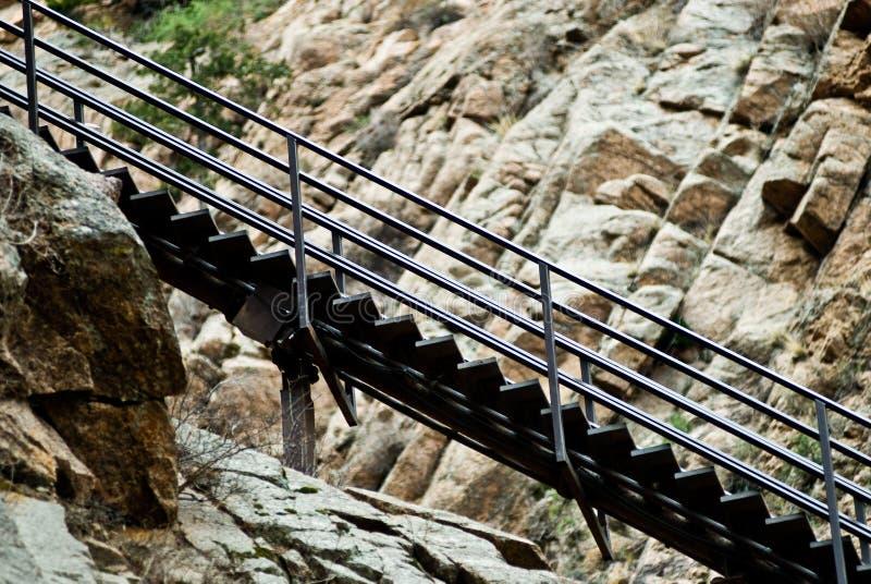Escalera de la montaña fotografía de archivo