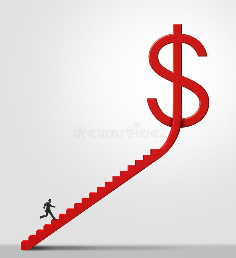 Escalera de la oportunidad del dinero ilustración del vector