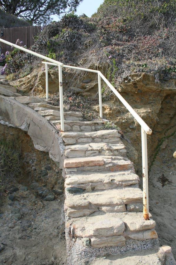 Escalera de la playa foto de archivo