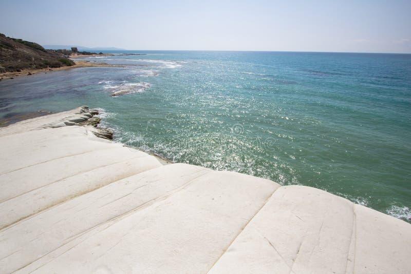 Escalera de los turcos, Sicilia, Italia foto de archivo libre de regalías