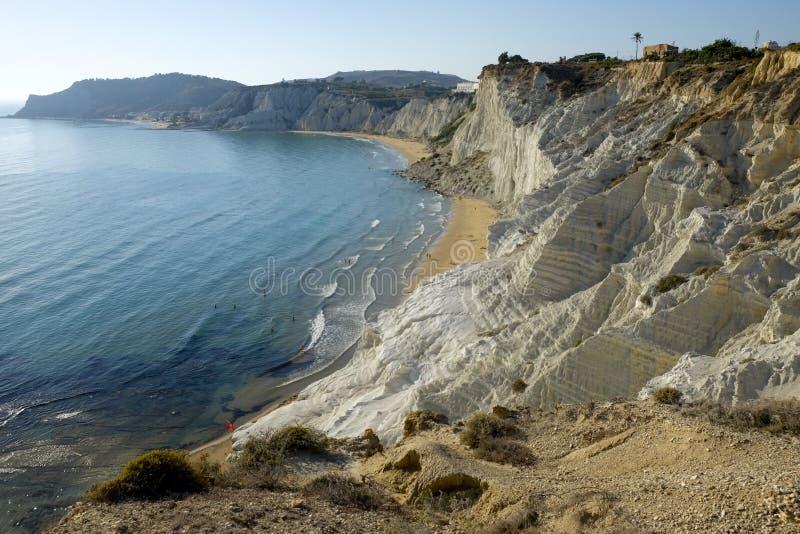 Escalera de los turcos, Sicilia, Italia fotos de archivo