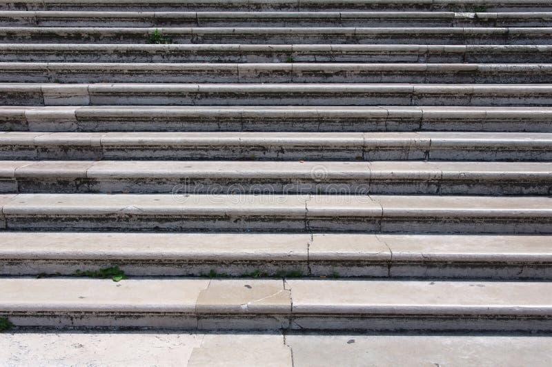 Escalera de mármol en Venecia fotografía de archivo