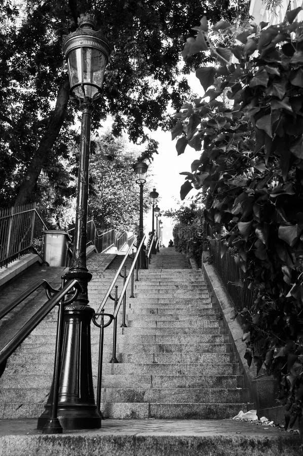 Escalera de Montmartre en París fotos de archivo libres de regalías