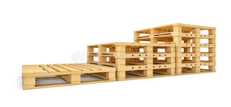Escalera de nuevas plataformas de madera libre illustration