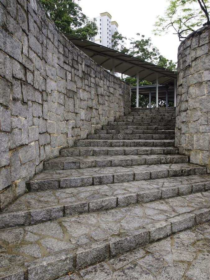 Escalera de piedra de la curva fotografía de archivo