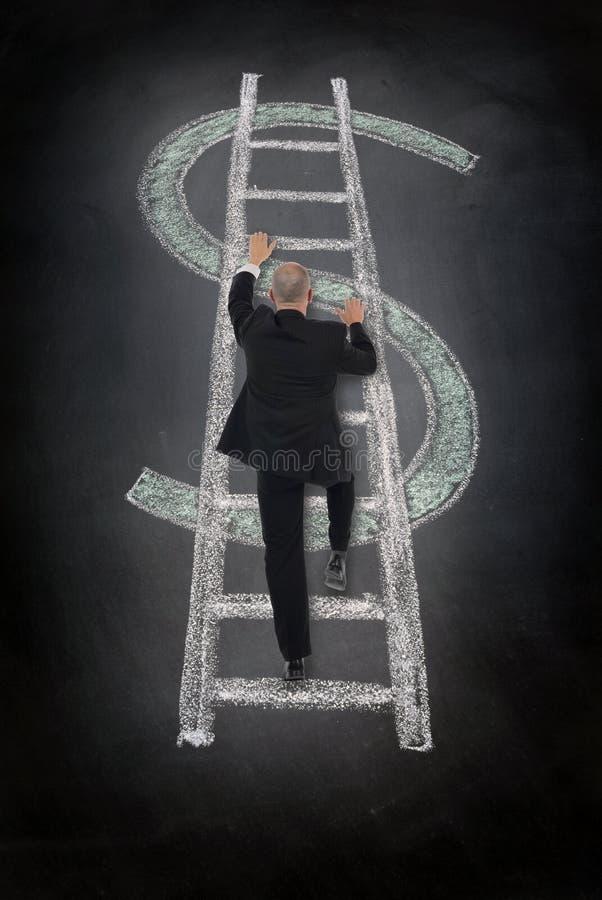 Escalera del dólar que sube imagenes de archivo