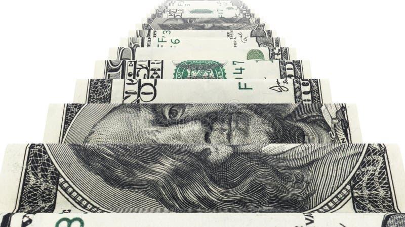 Escalera del dinero imagen de archivo