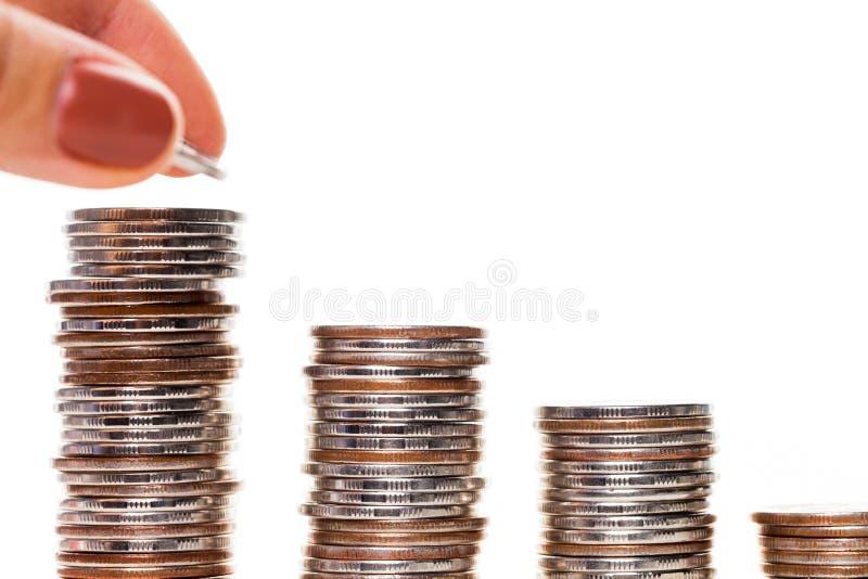 Escalera del dinero foto de archivo