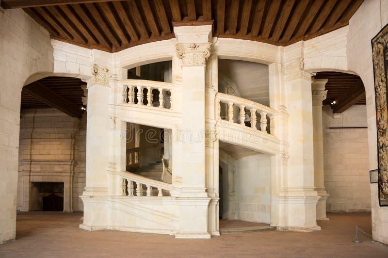 Escalera del doble hélice de Chambord imágenes de archivo libres de regalías