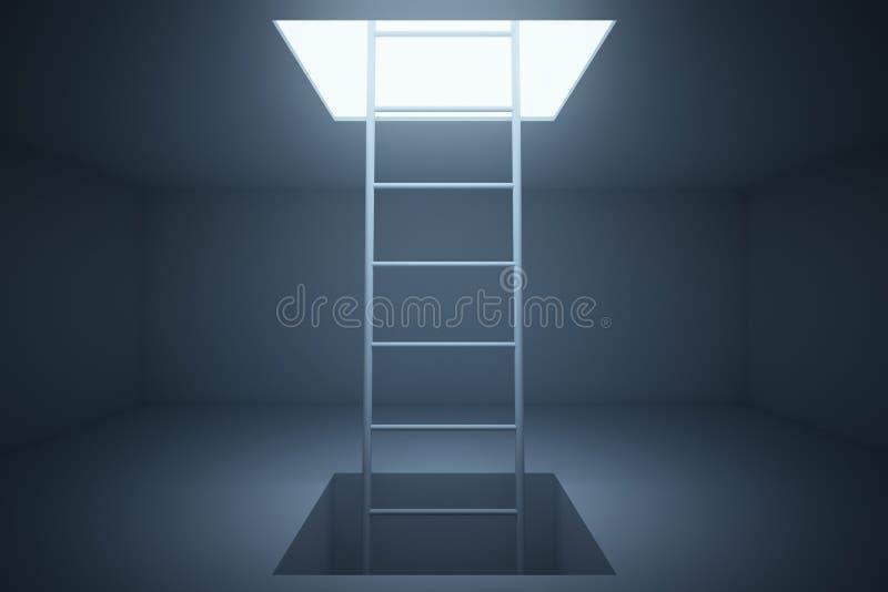 Escalera del escape en sitio stock de ilustración